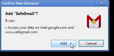הוספת SafeGmail התוסף לכרום