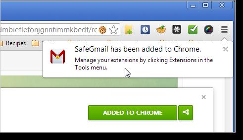התוסף SafeGmail - ג'ימייל בטוח ומוצפן נוסף