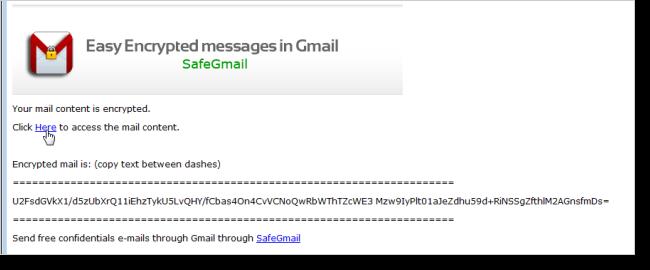 המקבל מציג את הדואר שקיבל