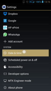 enter time and date settings in android 4.1