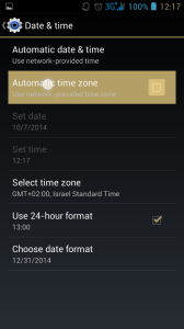 change to manual time and date settings in android 4.1