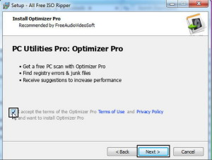 grey out option of installation pc utillities pro